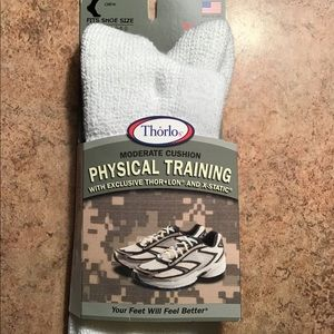 Thorlos Underwear & Socks - 1pr Thorlos Training Crew Socks White Unisex Small